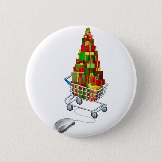 Online Christmas gift shopping 6 Cm Round Badge