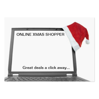 online christmas shopping concept business cards