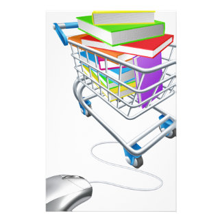 Online education or internet book shopping customised stationery