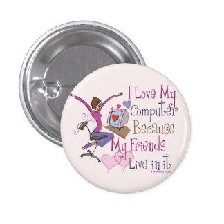 Online Friends 3 Cm Round Badge