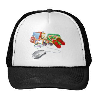Online holiday vacation travel sale trucker hat