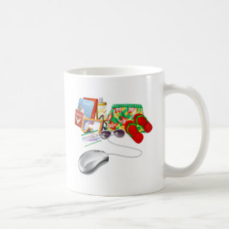 Online holiday vacation travel sale mugs