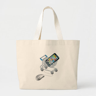 Online shopping for phone large tote bag