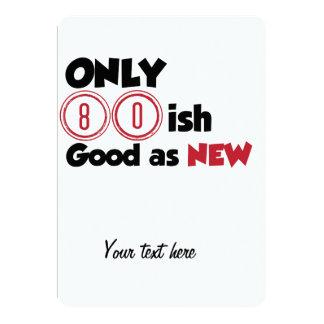 Only 80ish 13 cm x 18 cm invitation card