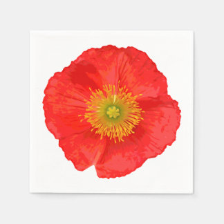 Only a Poppy Blossom + your text & ideas Disposable Napkin