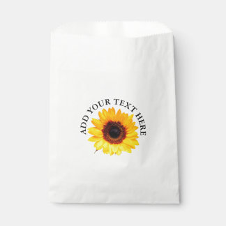 Only a Sunflower Blossom + your text & ideas Favour Bags