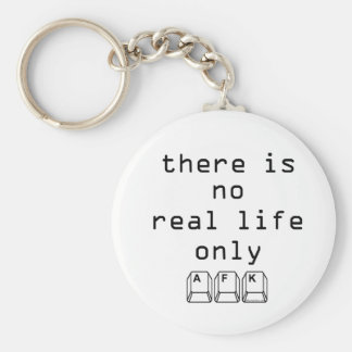Only AFK Basic Round Button Key Ring
