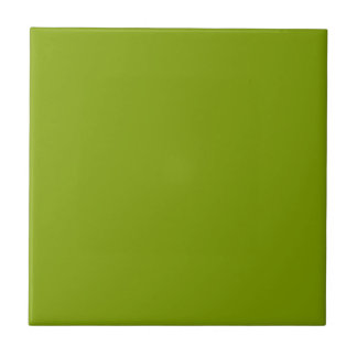Only apple green cool solid color background small square tile