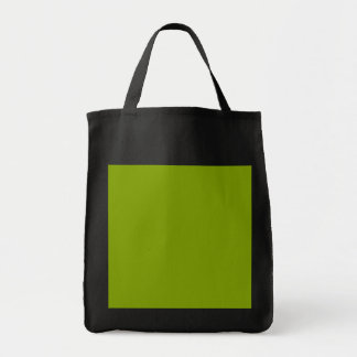 Only apple green cool solid color grocery tote bag