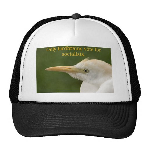 Only Birdbrains Vote for Socialists! Trucker Hat