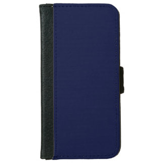 Only blue navy gorgeous solid color background iPhone 6 wallet case