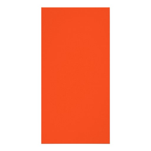 Only Bright Orange Color Trend Blank Template Custom Photo Card