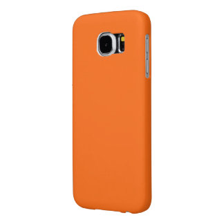 Only brilliant orange simple solid color Samsung6 Samsung Galaxy S6 Cases