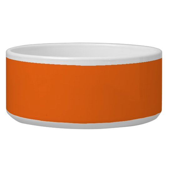 Only brilliant orange simple solid colour OSCB25 Pet Bowls