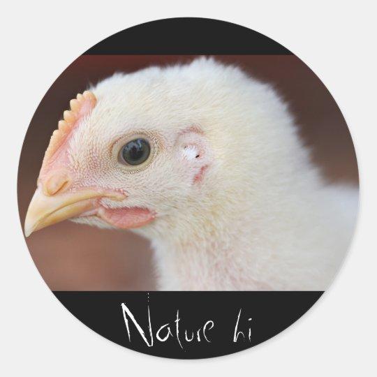 only chick round sticker