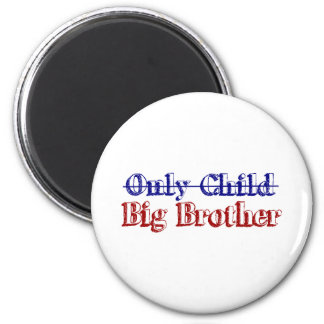 Only Child Big Brother 6 Cm Round Magnet