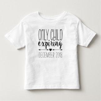 Only Child Expiring - Black Toddler T-Shirt