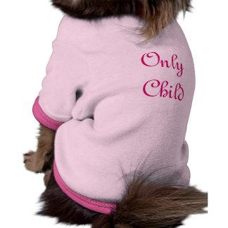 Only Child Ringer Dog Shirt