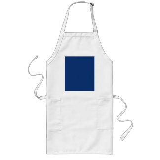 Only cobalt cool blue solid colour background long apron
