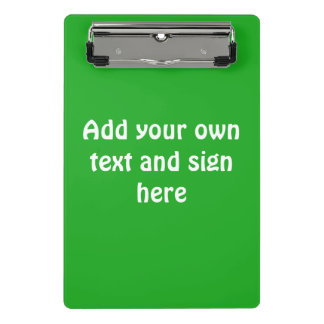 Only Color Background - grass green + your ideas Mini Clipboard