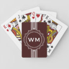 ONLY COLOR / BUTTON BANNER white + monogram Playing Cards