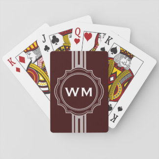 ONLY COLOR / BUTTON BANNER white + monogram Poker Cards