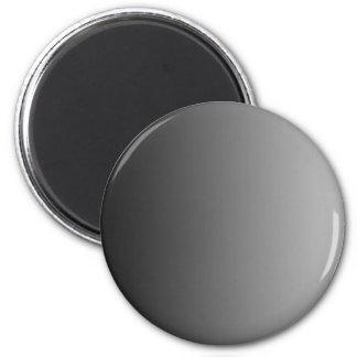 ONLY COLOR gradients - black grey 6 Cm Round Magnet