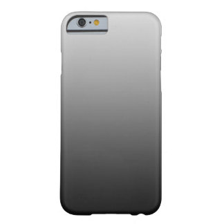 ONLY COLOR gradients - black grey Barely There iPhone 6 Case