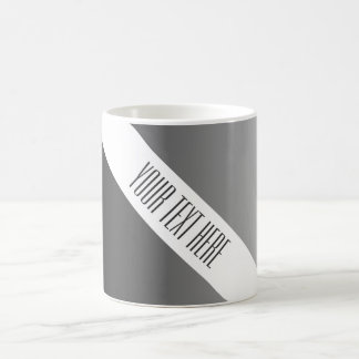 ONLY COLOR gradients - black grey + your text Basic White Mug
