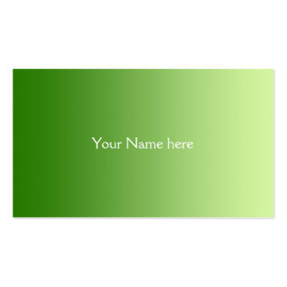 ONLY COLOR gradients - green Business Cards