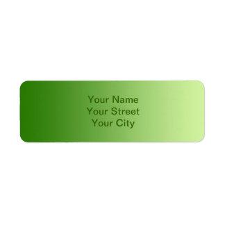 ONLY COLOR gradients - green Return Address Label