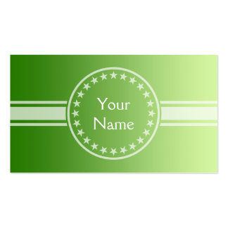 ONLY COLOR gradients - green + your text Business Card