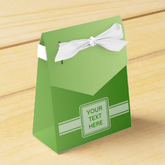 ONLY COLOR gradients - green + your text Favour Boxes