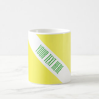 ONLY COLOR gradients lemon yellow + your text Basic White Mug