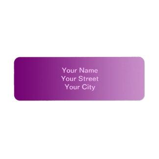 ONLY COLOR gradients - magenta Return Address Label