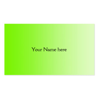 ONLY COLOR gradients - neon green Business Card Templates
