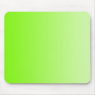 ONLY COLOR gradients - neon green Mouse Pad