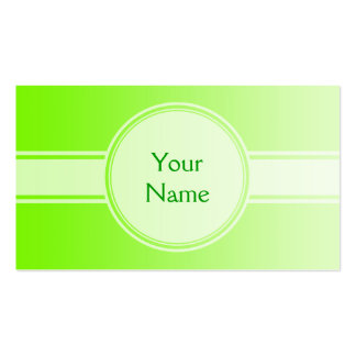 ONLY COLOR gradients - neon green + your text Business Card Template