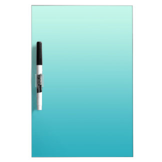 ONLY COLOR gradients - ocean blue Dry-Erase Board
