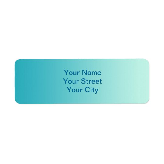ONLY COLOR gradients - ocean blue Return Address Label