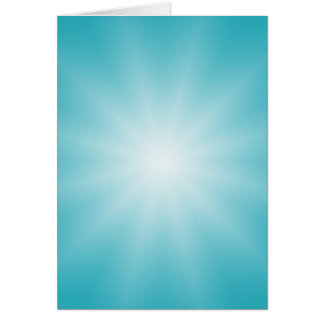 ONLY COLOR gradients - ocean blue Star Greeting Card