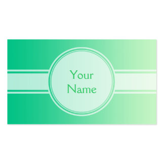 ONLY COLOR gradients - ocean green + your text Business Cards