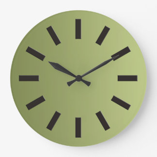 ONLY COLOR gradients - olive green + clock face I