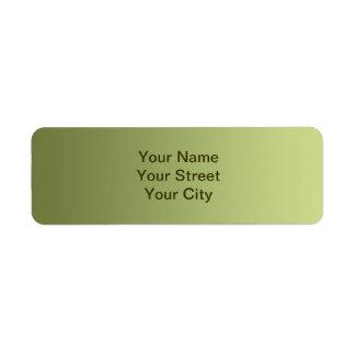 ONLY COLOR gradients - olive green Return Address Label