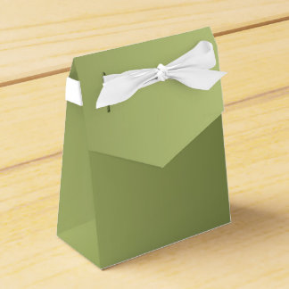 ONLY COLOR gradients - olive green Party Favour Boxes