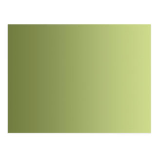 ONLY COLOR gradients - olive green Postcard