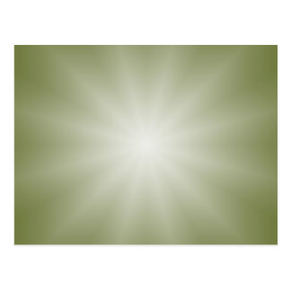 ONLY COLOR gradients - olive green Star Postcard