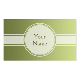 ONLY COLOR gradients - olive green + your text Business Card
