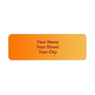 ONLY COLOR gradients - orange Return Address Label