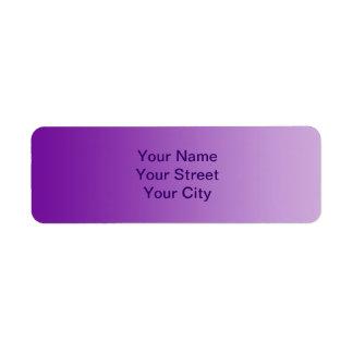 ONLY COLOR gradients - purple Return Address Label